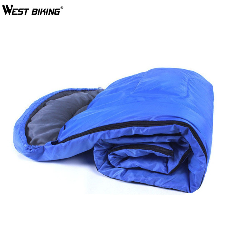 ФОТО WEST BIKING Sleeping Bags Hollow Cotton Summer Spring Sleeping Bag With Carrying Case Envelope Hooded Outdoor Travel Camping