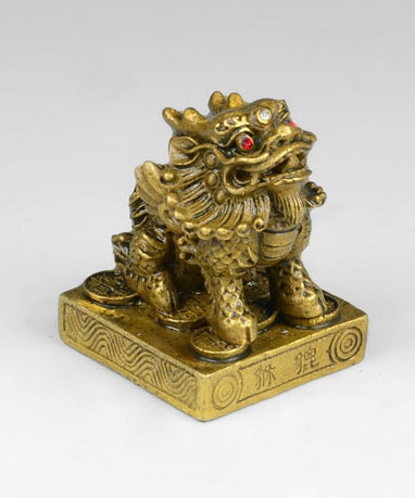 shui tang light copper ornaments square bottom double angle brave brave zhaocai accepts the wealth feng angle feng shui