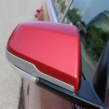 Painéis de Espelho retrovisor Traseiro Pedal Automóvel Atualizado Modificado Decorativo Estilo Do Carro Cobre Partes 18 ATS-L 19 PARA Cadillac