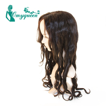 Lace Front Loose Wave Human Hair Wigs Peruvian Lace Front Wig Glueless Loose Wave Wig Bleached Knots For Women Can be customized
