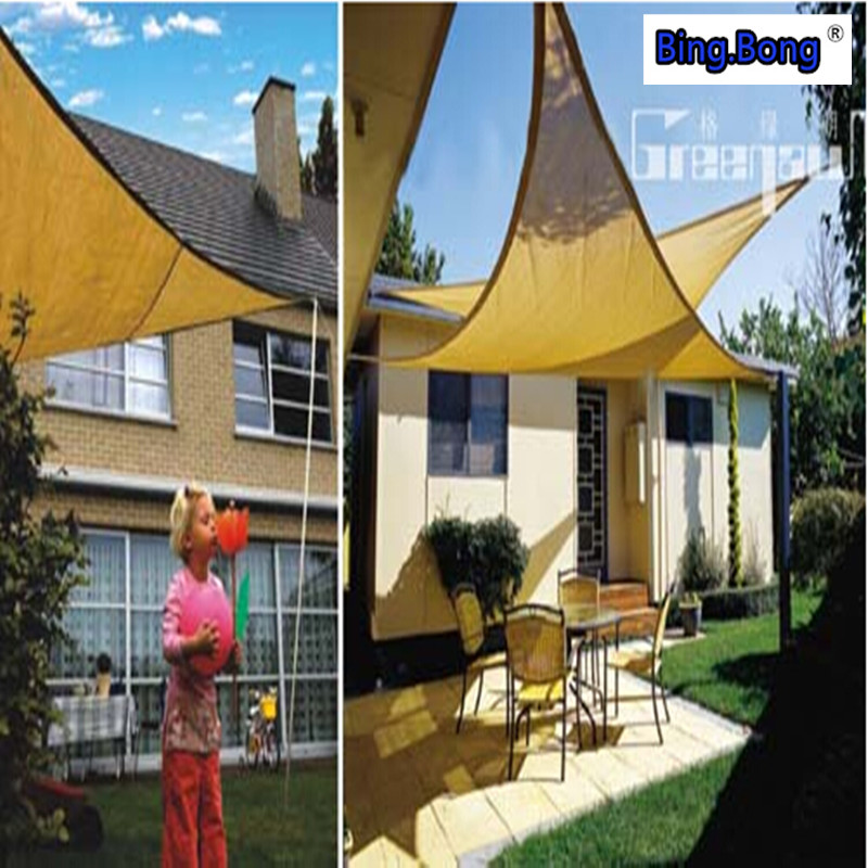 Attractive UV Waterproof Triangles Sun Shade Sail Awning Outdoor Sun Shading Net  3*3*3m Garden Courtyard Pool Gazebo Canopy Swimming Pool