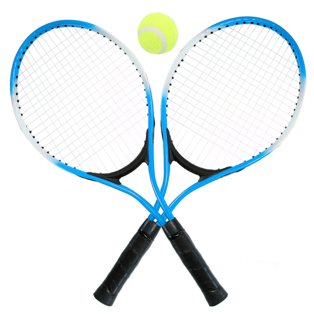 Teenager's Tennis Racket For Training tennis Carbon Fiber Top Steel Material tennis string with 2piece/set Racket and Free ball