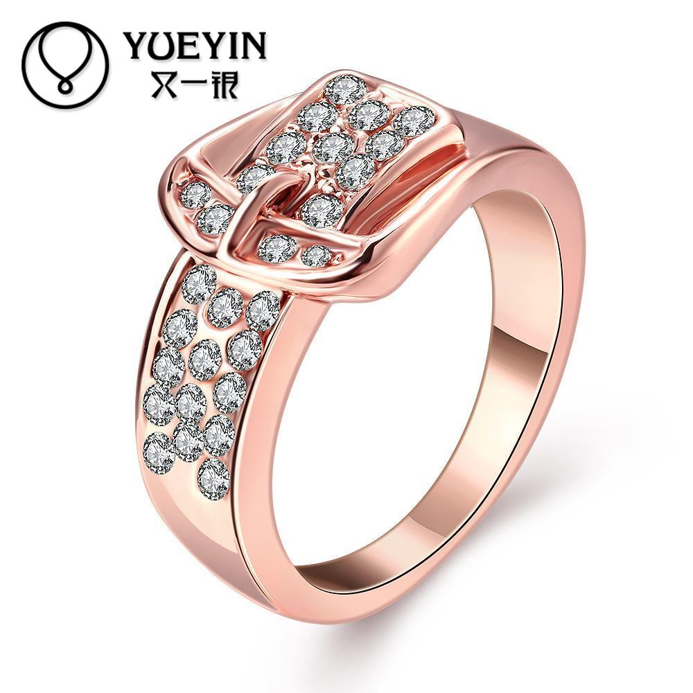 rose gold color engagement rings for lady fashion jewelry anel feminino rhinestone original designs factory price