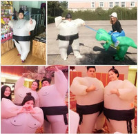 Outdoor toy air filled adult/child inflatable cosplay costume Sumo wrestler/KoNoMi humor funny party team building creative toy