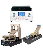 Новейший TBK 808 автоматический прибор для устранения пузырьков OCA вакуумная ламинационная машина + 3 в 1 машина для удаления клея + OCA пленка