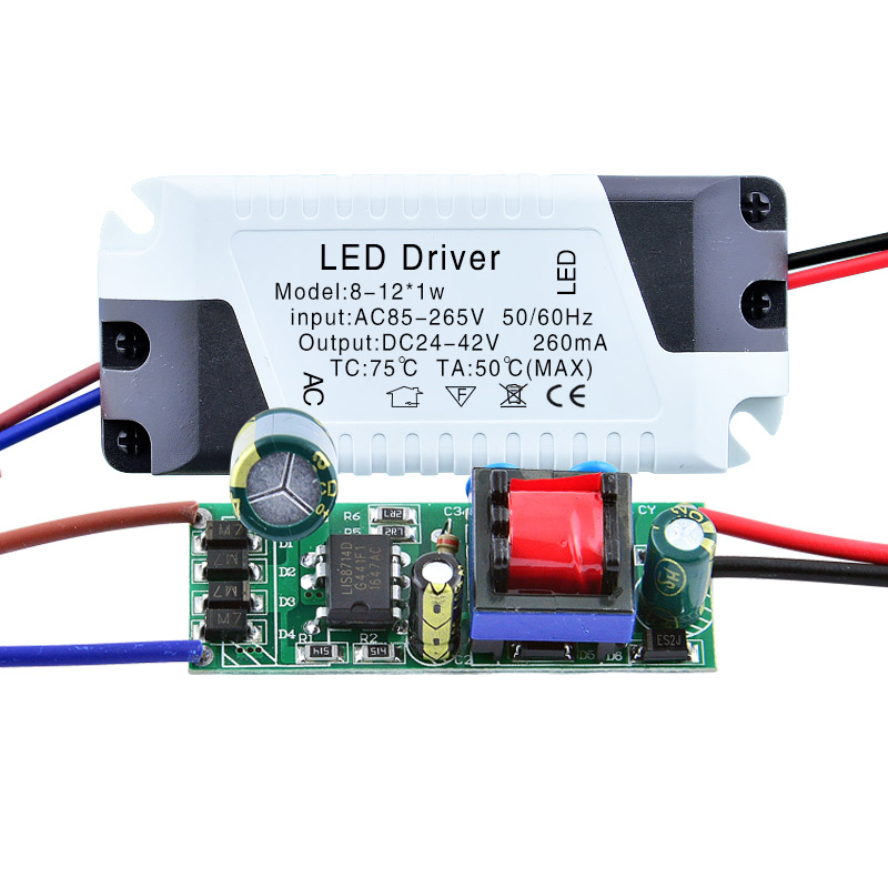 LED Driver 3W 4W 5W 7W 9W 12W 18W 24W Power Supply 300mA DC Adapter Transformer Constant Current Isolation For LED Lights water resistance 19 24w led constant current source power supply driver 90 265v