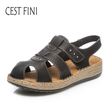 CESTFINI Women Sandals 2017 Fashion Women Leather Shoes Ladies Summer Soft And Comfortable Shoes #SA001