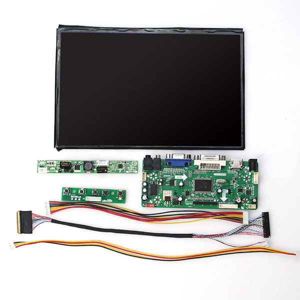 For 10.1 inch B101UAN02 1920x1200 LCD Display + HDMI VGA 2AV LCD Controller Driver Board + LVDS Inpute Free Tracking NO free shipping v m70a vga lcd controller board kit for ht185wx1 ht185wx1 100 18 5 inch 1366x768 2ccfl lvds lcd video board