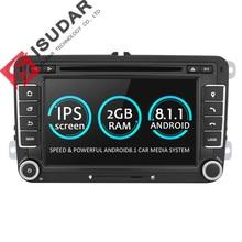 Isudar Car Multimedia Player Android 8.1 2 Din Car DVD For Volkswagen/VW/POLO/PASSAT/Golf/Skoda/Octavia/Seat/Leon GPS Radio DSP