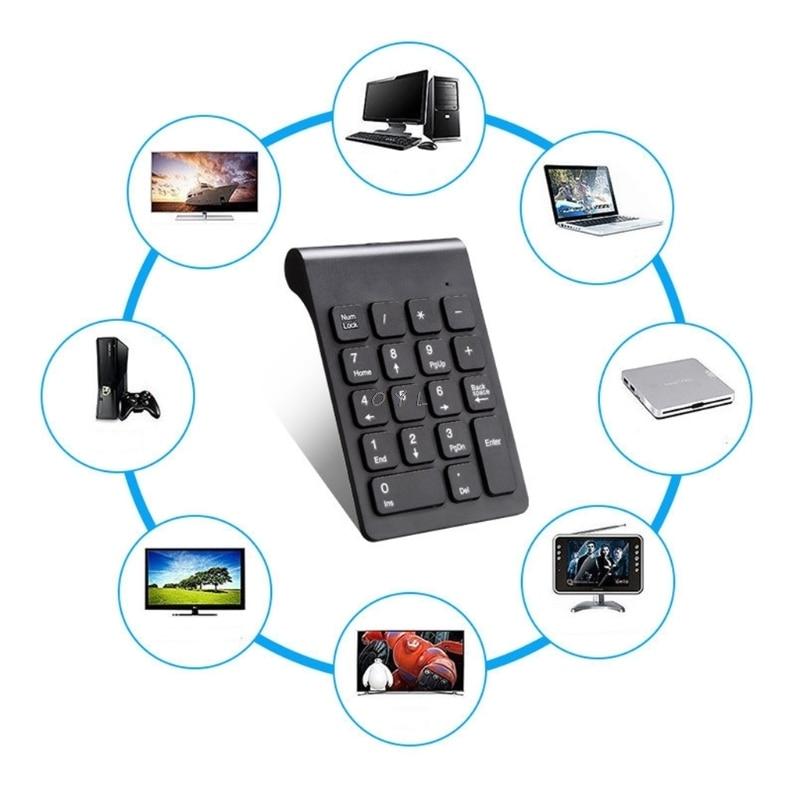 New  Portable 2.4G Wireless Digital Keyboard USB Number Pad 18 Keys Numeric Keypad