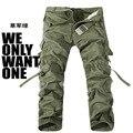 Повседневные Брюки Группа-покупка!! горячий Продавать бренд 6 цвет моды khaki армии военный камуфляж камуфляж брюки мужские брюки размер 28-38