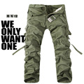 Casual Pants Group-buying!! Hot Selling brand 6 color fashion khaki army military camo camouflage pants mens trousers size 28-38