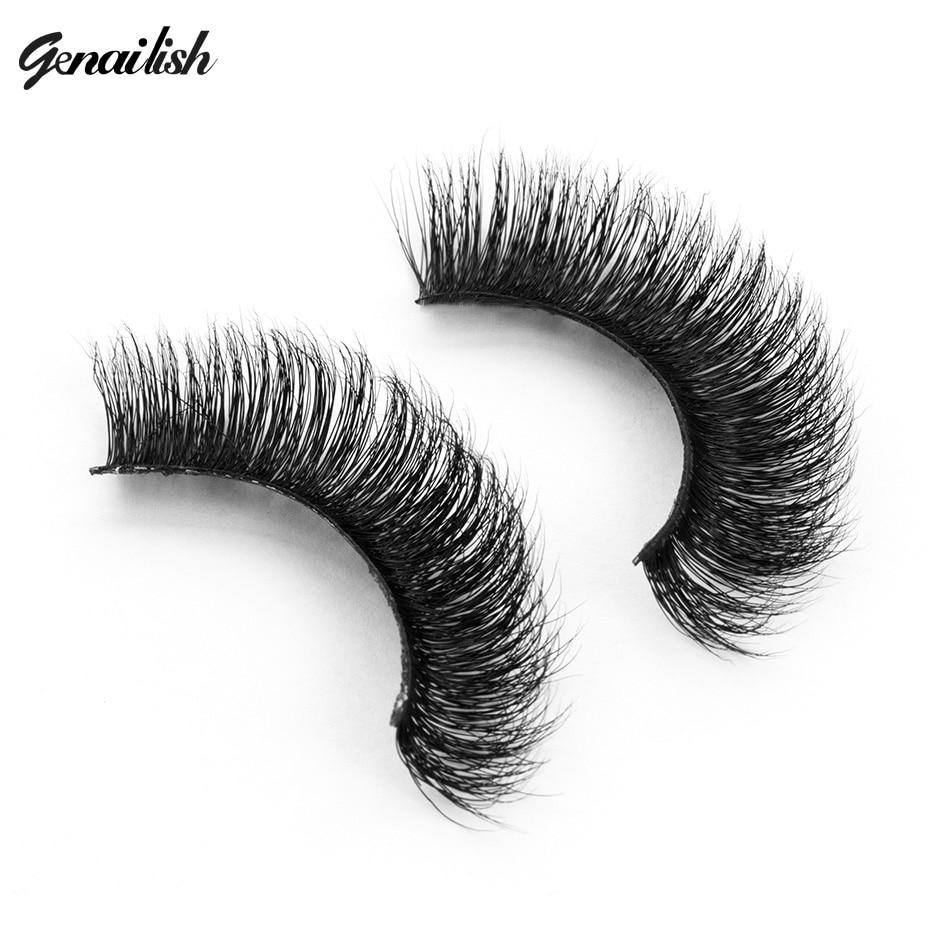 Genailish Lashes 3D Mink Λαστιχένια Χοντρά False - Μακιγιάζ - Φωτογραφία 1
