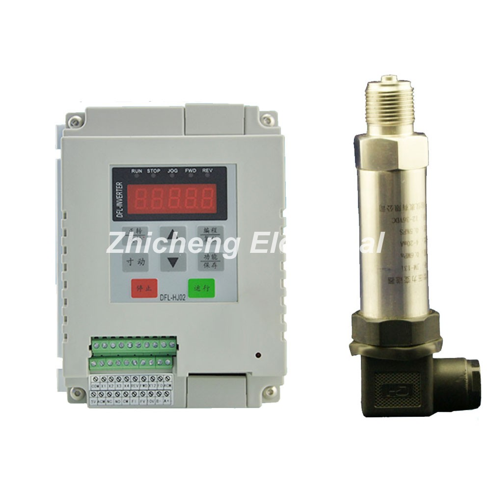 Single-phasePump 1.5KW Two Into the Two Constant Pressure Water Supply Inverter+Pressure Transmitter 4 ~ 20ma Sensor 0 ~ 1.0Mpa danfoss pressure transmitter mbs1900 064g6586 064g6585 constant pressure water supply pressure sensor
