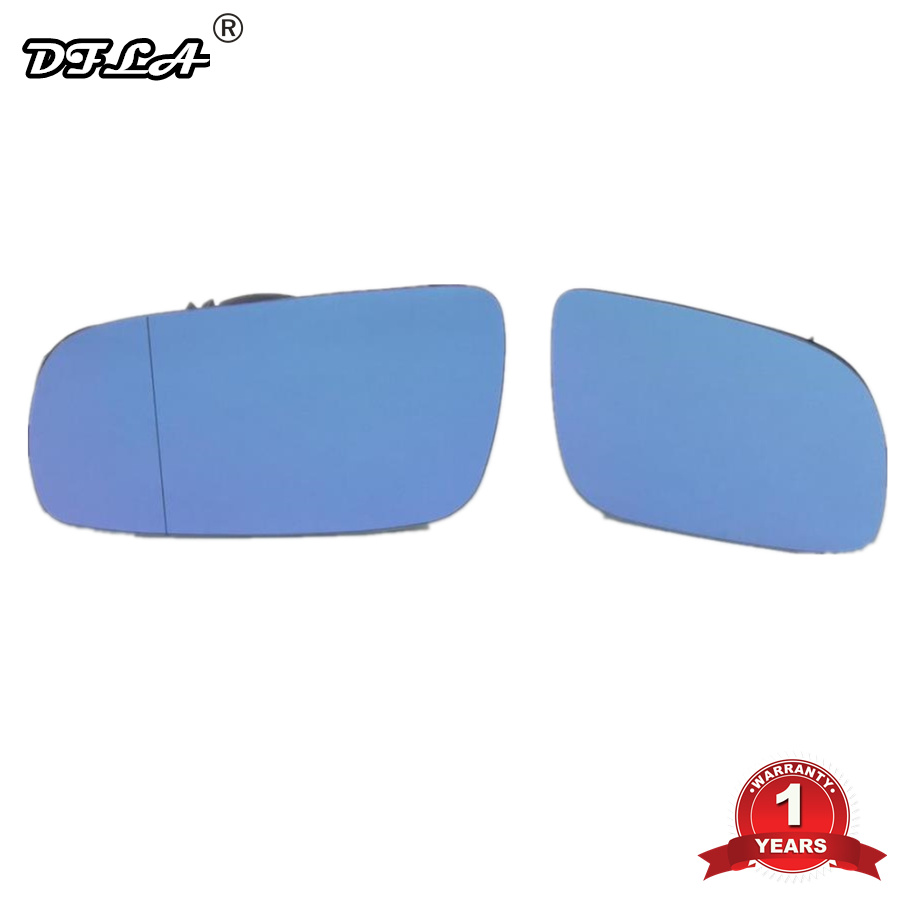 2pcs For VW Golf 4 MK4 1998 1999 2000 2001 2002 2003 2004 2005 2006 Car-styling New Blue Mirror Glass Heated Left And Right Side стоимость