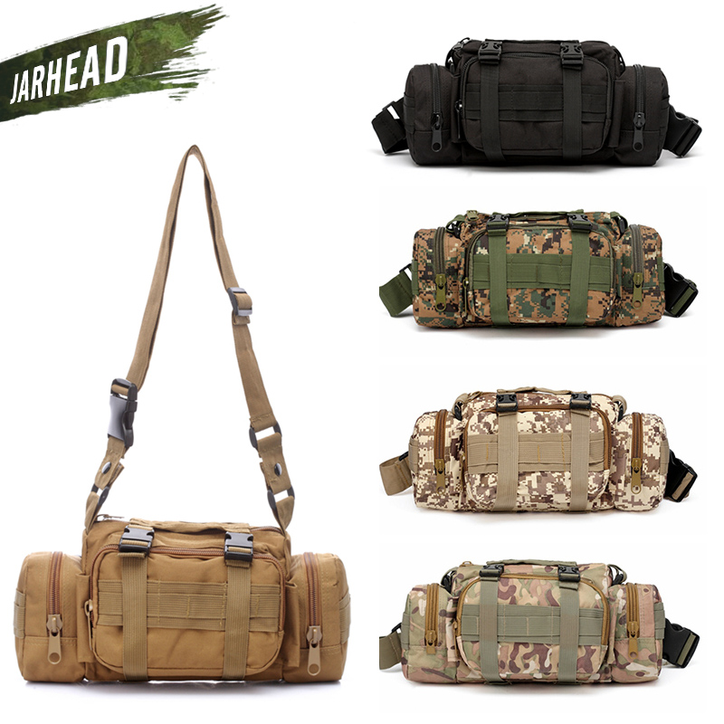 Outdoor Molle Camera Bag Camouflage Multifunction Pockets Army Tactical Camera Running Fishing Shoulder Sport Waist Bag outdoor sports pockets sv012199