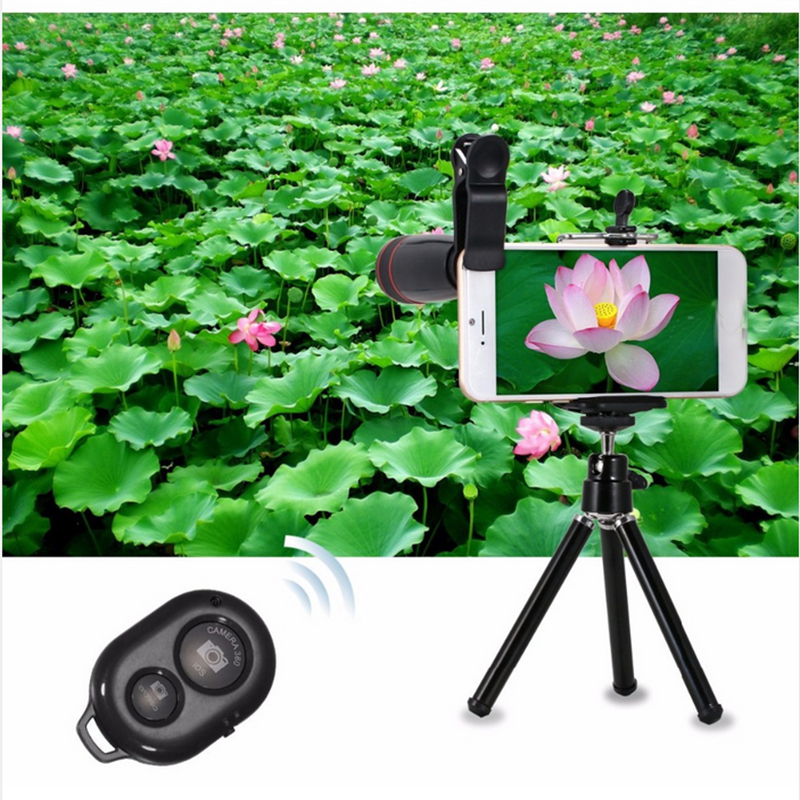 Image 5 - New Arrival 10in1 Mobile Phone Camera Lens Kits 12x Telephoto Lens Wide Angle Macro Lens Fish Eye Selfie Stick Monopod Tripod-in Mobile Phone Lens from Cellphones & Telecommunications