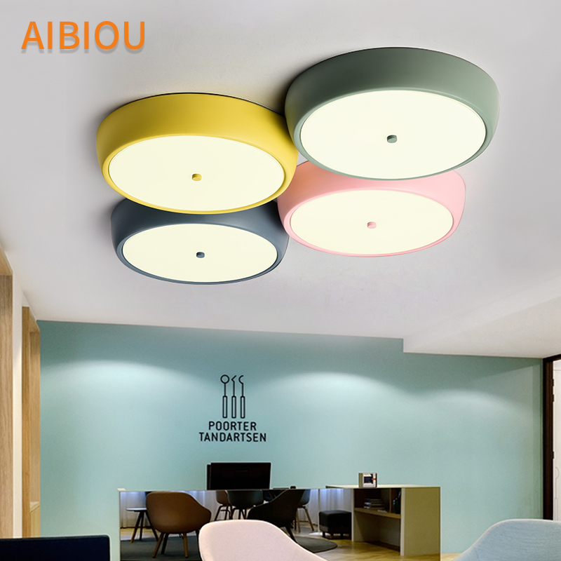 AIBIOU New Arrival LED Ceiling Lights Ceiling Mounted Bedroom Light Kithen Luminare Metal Dining Lighting Fixtures