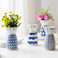 Fille Vase en céramique décor à la maison Pots de fleurs jardinières porcelaine fleur Vase décor à la maison