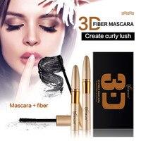 Superior Quality 3D Fiber Waterproof Mascara Thick Long Lasting Mascaras Combination Cosmetics Makeup Curling Eye Lashes
