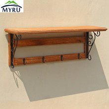 Multifunctional Wall Hanging Wooden Storage Rack Single Layer Sortng Storage Rack Living Room/ Bedroom Storage Rack