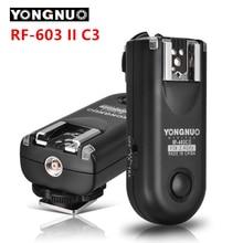 Yongnuo rf-603 c3 ii radio flash inalámbrico remoto disparador para canon 1d 1ds 5D Mark II III 1DX 6D 5D 7D 50D 40D 30D 20D 10D
