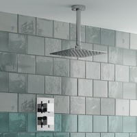 CEILING THERMOSTATIC SQUARE MIXER SHOWER VALVE SS125