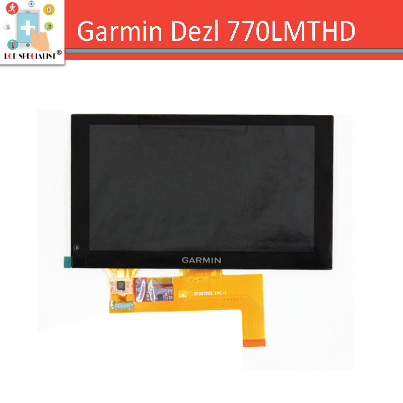 NEW Original 7 inch lcd display + touch screen digitizer panel for GARMIN Dezl 770LMTHD Truck Navigator