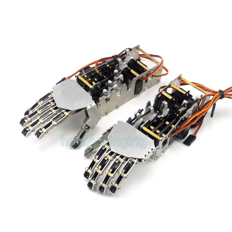 5DOF Robot Humanoid Metal Manipulator Five Fingers Anthropomorphic Left+Right Hand with Servo цены