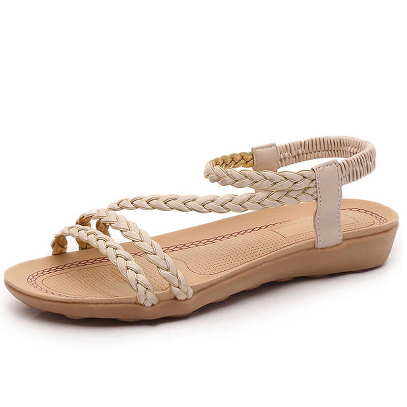 Vrouwen sandalen 2019 vrouwen platte sandalen gladiator casual schoenen vrouwen slippers sandalen zomer vrouwen mode strand sandalias mujer