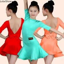 1e0e59b9adb0c Niños Danza Latina traje niñas Chacha Ballroom baile del competencia  Dancewear E6(China)