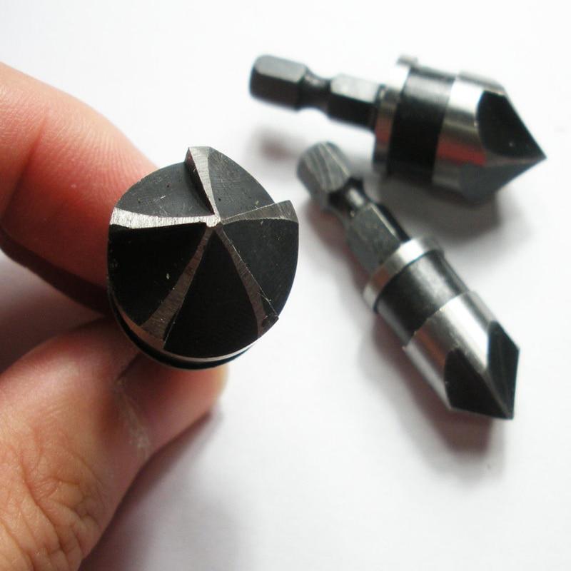 1/4 Broca de avellanado de vástago hexagonal Broca 5 Flauta 90 - Broca - foto 6