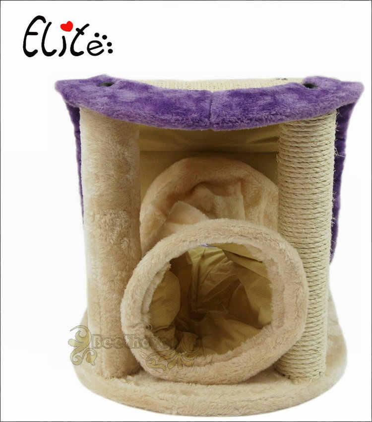 Cat Мебель когтеточка для кошек дерево восхождение для прыжков кошек Игрушка-туннель для кошек с лазанье по лестнице рамки Когтеточка для кошек