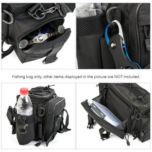 Image 5 - Fishing Bag for Fishing Case Outdoor Sports Waist Pack Fishing Lures Gear Storage Bag Backpack Single Shoulder Cross Body Bags