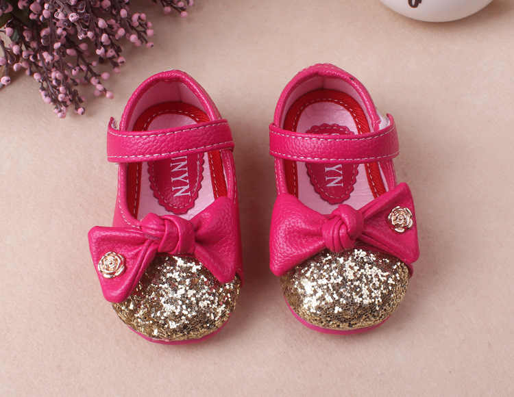 1ef4752f84ca ... 2017 Baby Girl Princess Sparkly bowknot Shoes Infant Cute Princess  Golden Silver Footwear Toddlers Fashion Soft ...