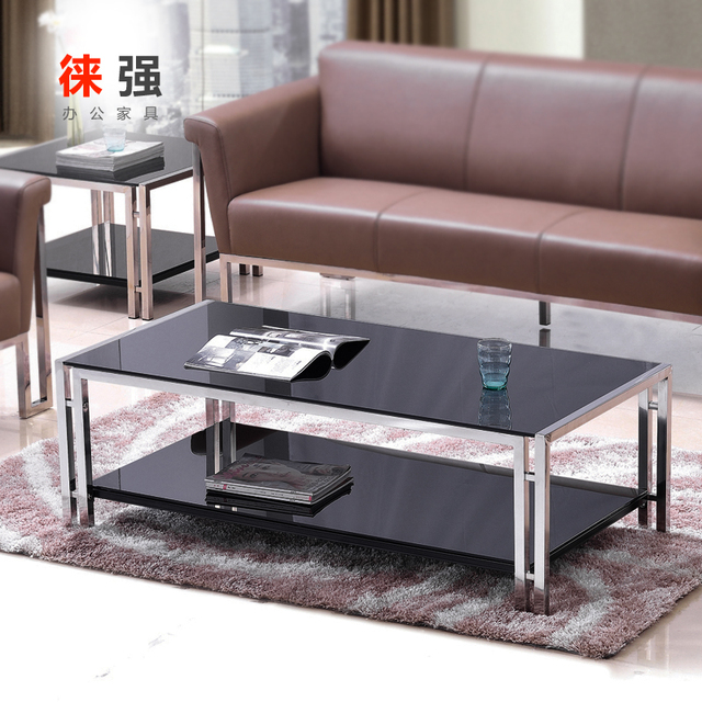 Doble de acero inoxidable mesa de café salón de recepción de la ...