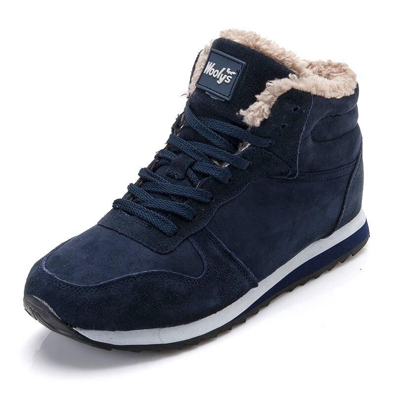 D hiver Pour Plus Garder Sneakers 44 45 Noir Mâle Bottes Homme Neige Au Chaussures  Hommes ... c9011000d38