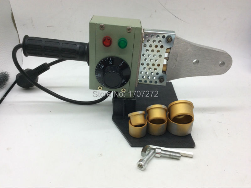 Free Shipping Temperature controled PPR Welding Machine, plastic pipe welding machine, PE plastic welder AC 220V 600W 20-32mm 220v 600w pipe welding machine temperature controlled heating ppr pe pp tube pipe welding machine heads kits