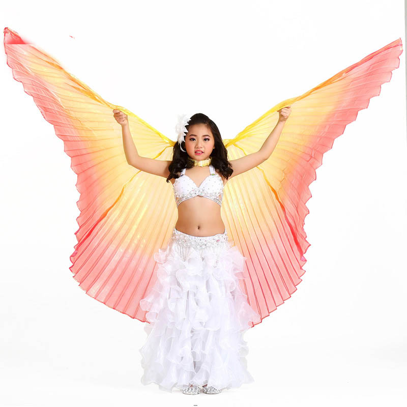 2019 Hot Selling indian dance Belly Dance Wings with Sticks Belly Dancing Costumes Bellydance Egypt Isis Wings for Children