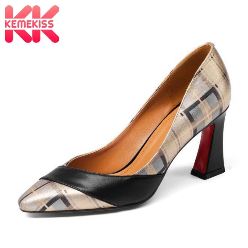 Talons De Pompes Parti Lady Femmes Couleur Chaussures Bureau Mixte En 33 Cuir Taille 43 Réel Pointu Base Or Kemekiss Hauts Bout pxzwq06H