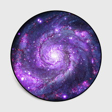 Creative 3D pattern universe Galaxy round carpet non-slip flannel livingroom mat big size europe style Party rug floormat