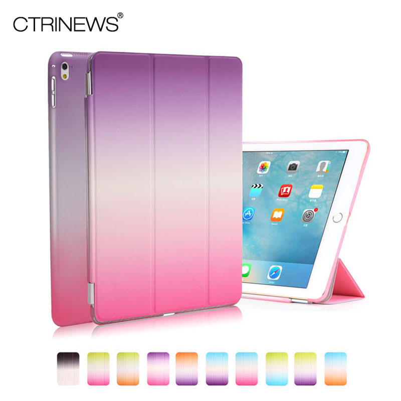 CTRINEWS Smart Case For Apple iPad Pro 9 7 inch Gradient Flip PU Leather Stand Cover