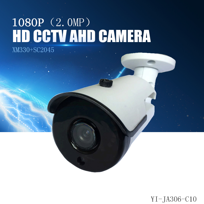 YiiSPO AHD 1080P bullet Camera 2.0MP analog Camera outdoor waterproof Night Vision pal/ntsc CCTV security camera AHD metal IR 2017 newest security ahd 1080p 2 0mp waterproof ir metal cctv bullet camera system cheap product