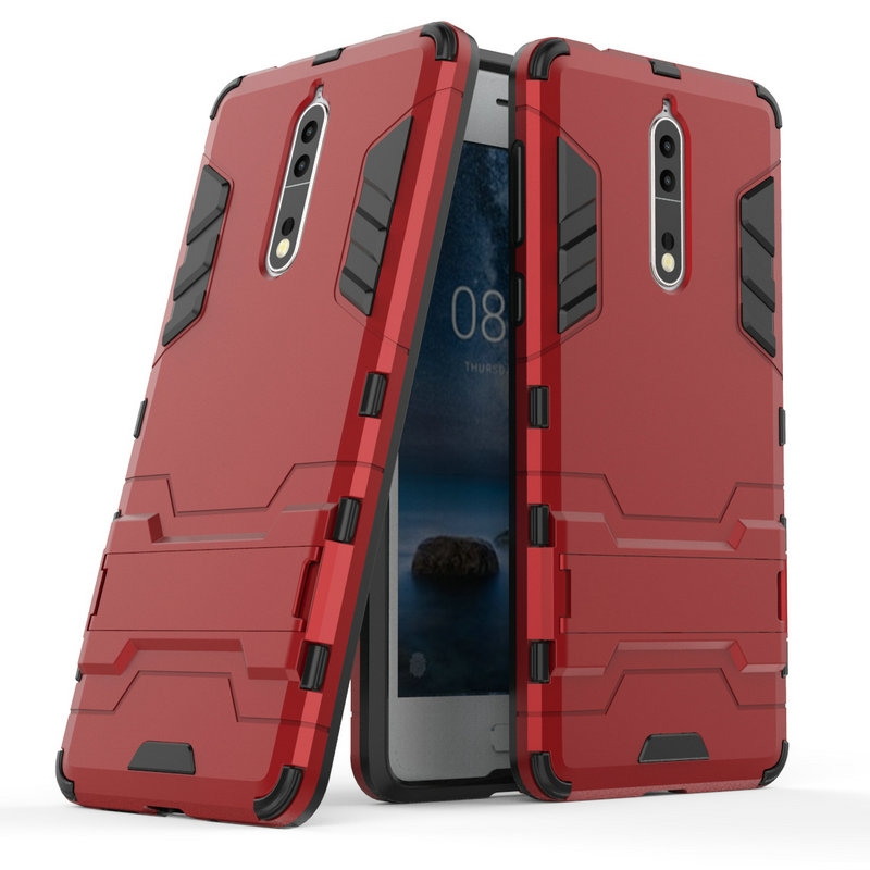 for Nokia 8 Shockproof Stand Hard case 2 3 5 6 2018 6.1 plus Armor iron Man Back cover>