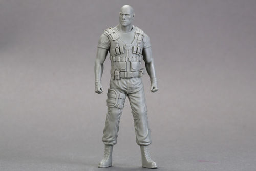 1/18 90mm Modern Stand Man  Toy Resin Model Miniature Kit Unassembly Unpainted