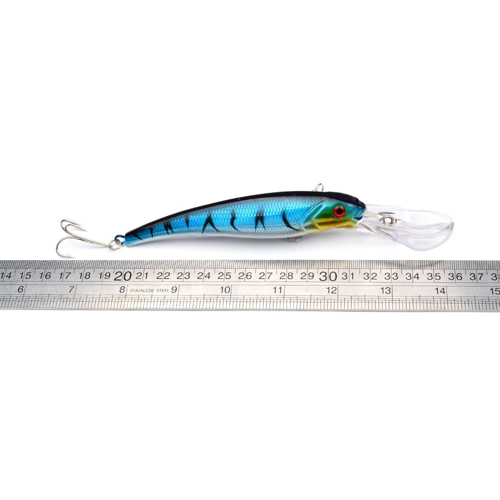 Image 5 - Hot sale 3Pcs Seawater Fishing Bait Minnow Crankbaits Big Hard Lures 3D Eyes Sea Fishing Tackle Wobblers Pesca Isca 165mm 28.7g-in Fishing Lures from Sports & Entertainment
