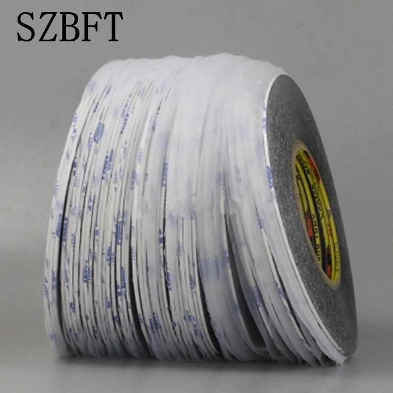 SZBFT 5mm* 50M Adhesive Double Sided Tape 5MM*50M Extremely Strong Sticky for Mobile Phone Repair Wholesale original cp6920f3 w1 5mm 2 0mm l50m 1 5mm 2 0mm 50m acf conductive film anisotropic film adhesive for lcd repair on fpc to pcb