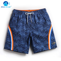 Board shorts men swimming trunks praia holiday swimwear surf bermuda swim short bathing suit sweat liner swimsuits loose quick