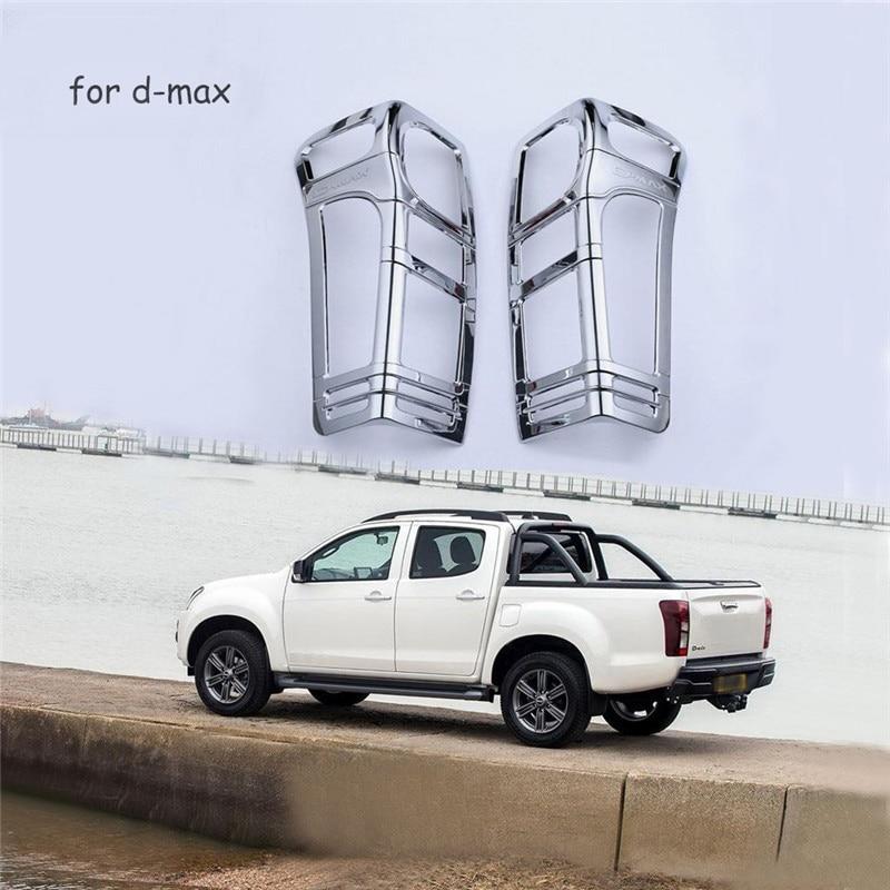 Car Chrome Strip Fit For Isuzu d max Accessories Rear Lamp Cover Trim For Isuzu d max 2012 2013 2014 2015 2016 2017 Car Styling