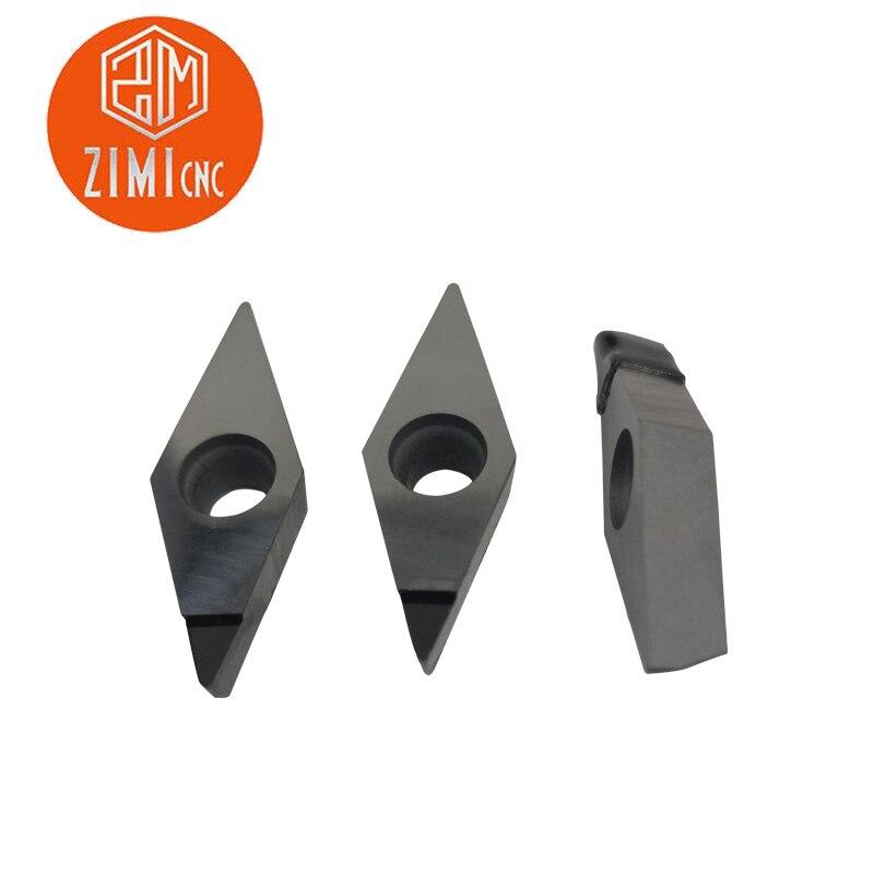 High-precision 2pcs NEW PCD CNGA120404 PCD Diamond CNC blade insert